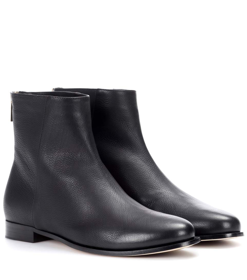 DUKE LEATHER ANKLE BOOTS