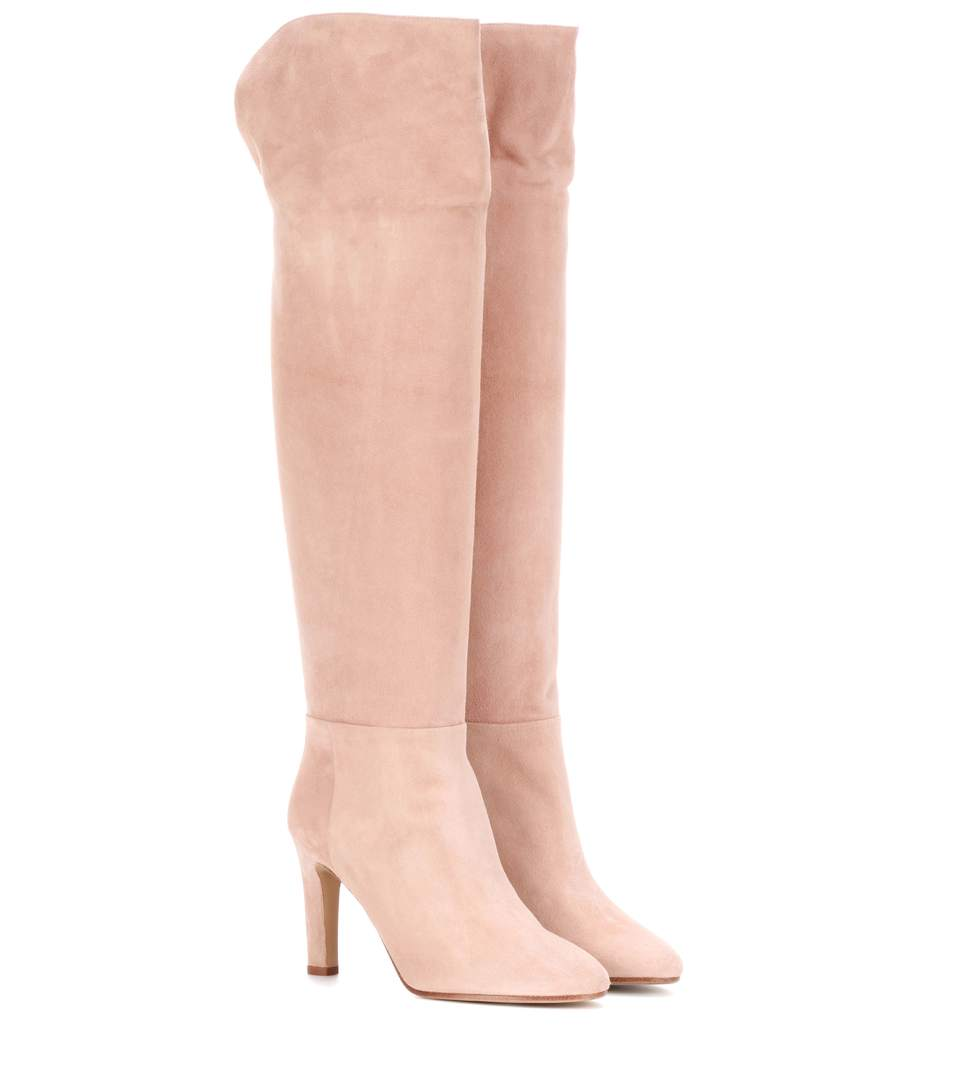 LINDA SUEDE OVER-THE-KNEE BOOTS