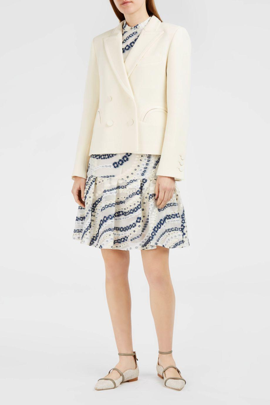 Blazé Milano Spencer Resolute Cream Cropped Blazer