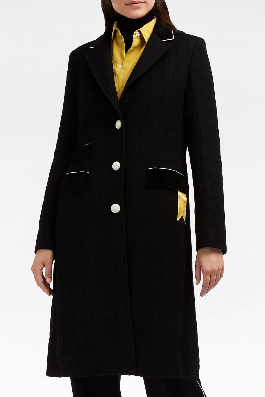 The Gigi Satin-Trimmed Velvet and Wool-Blend Coat
