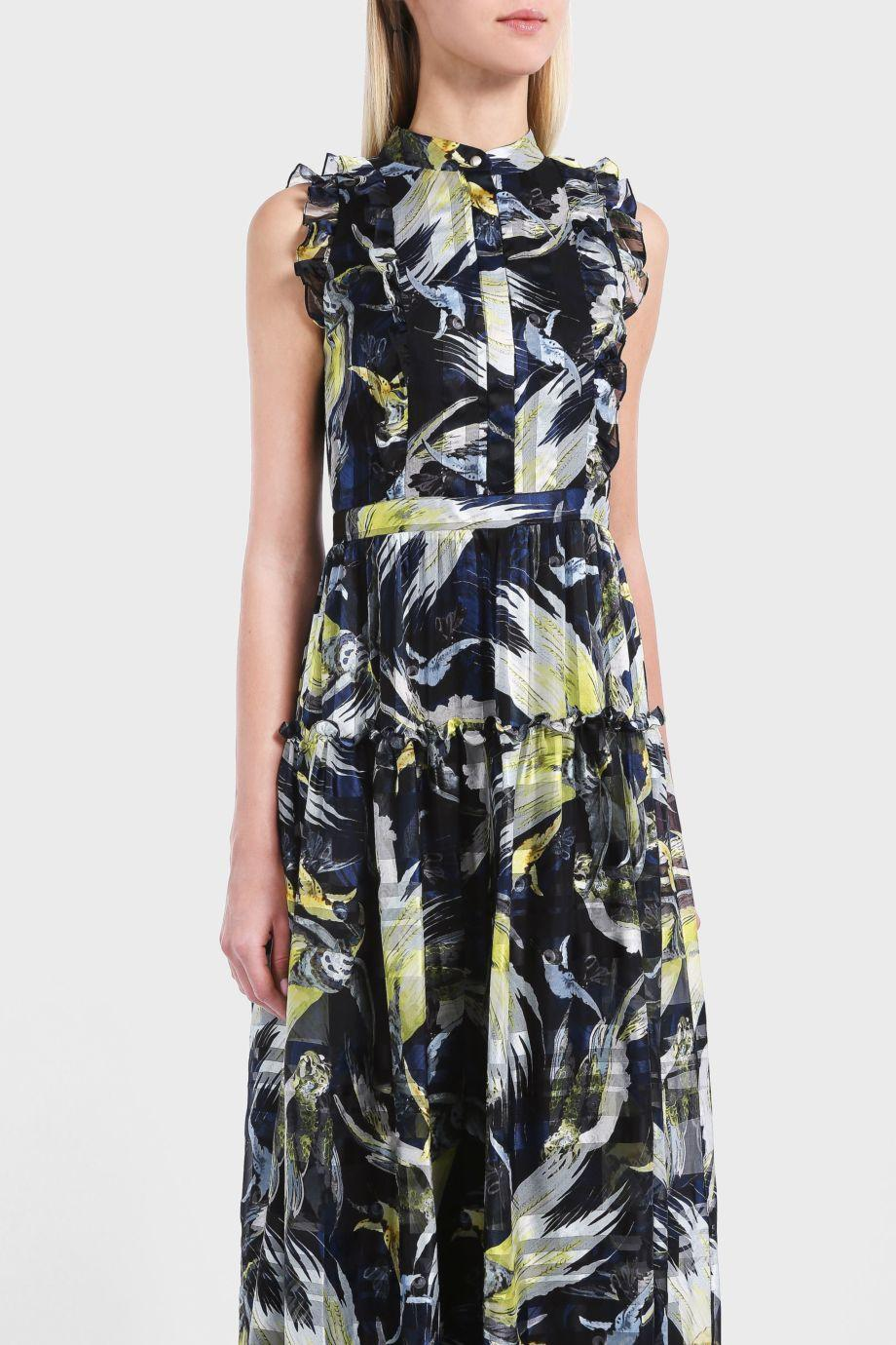ERDEM Ava Printed Silk-Chiffon Gown, Multicoloured
