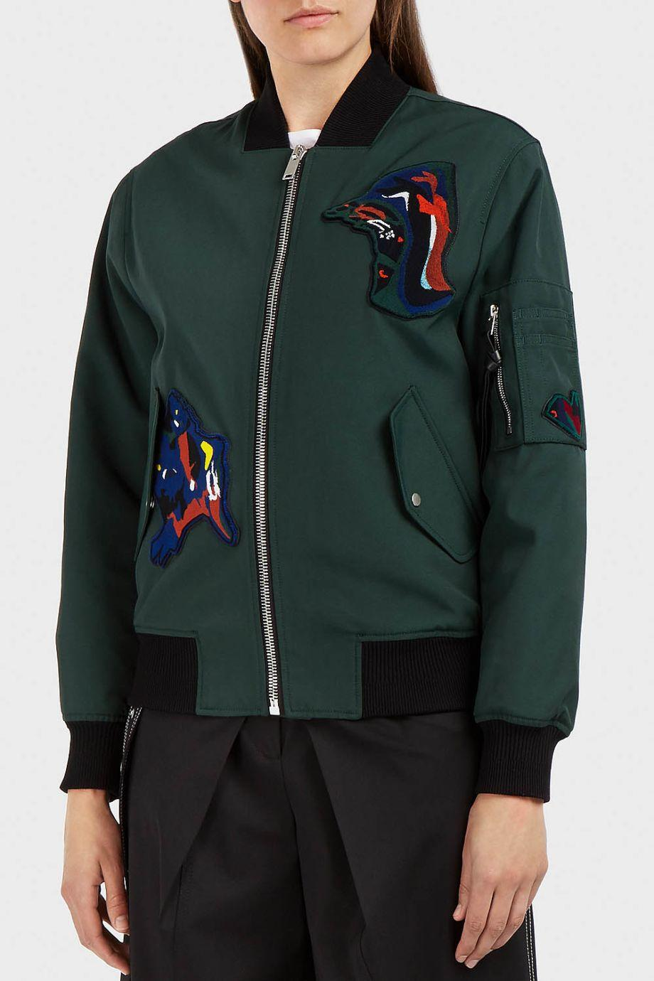 Proenza Schouler  Appliquéd Canvas Bomber Jacket