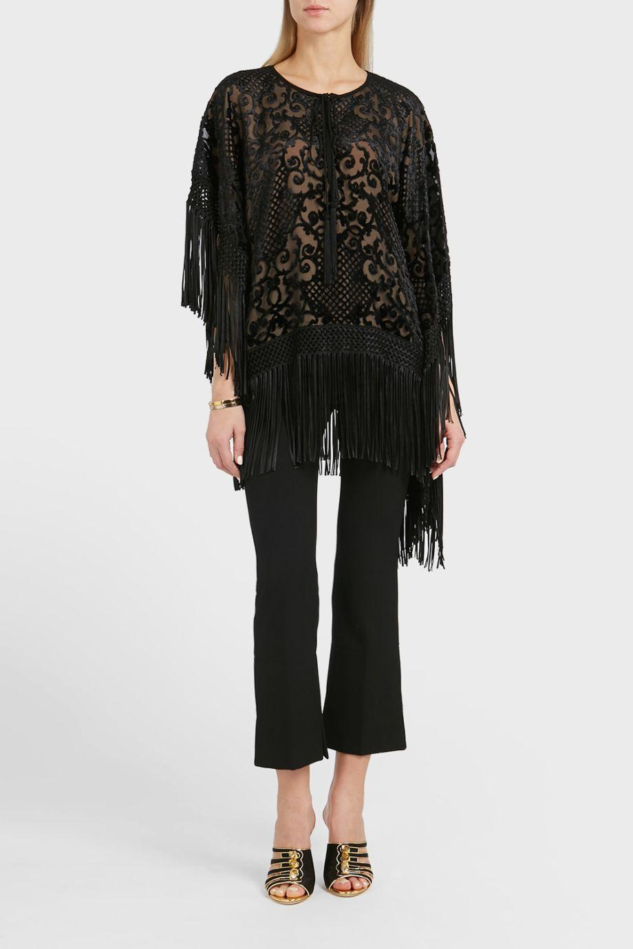 Andrew Gn Fringed Top