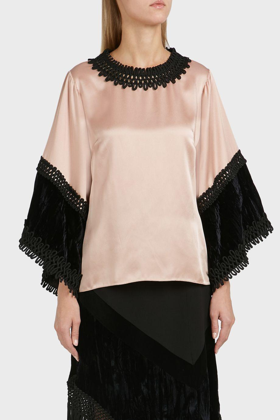 Andrew Gn Wide Sleeve Blouse