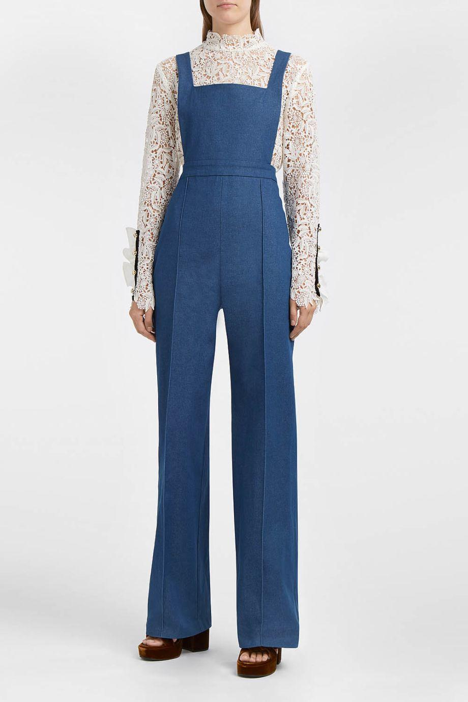 Macgraw Stretch-Cotton Chambray Jumpsuit