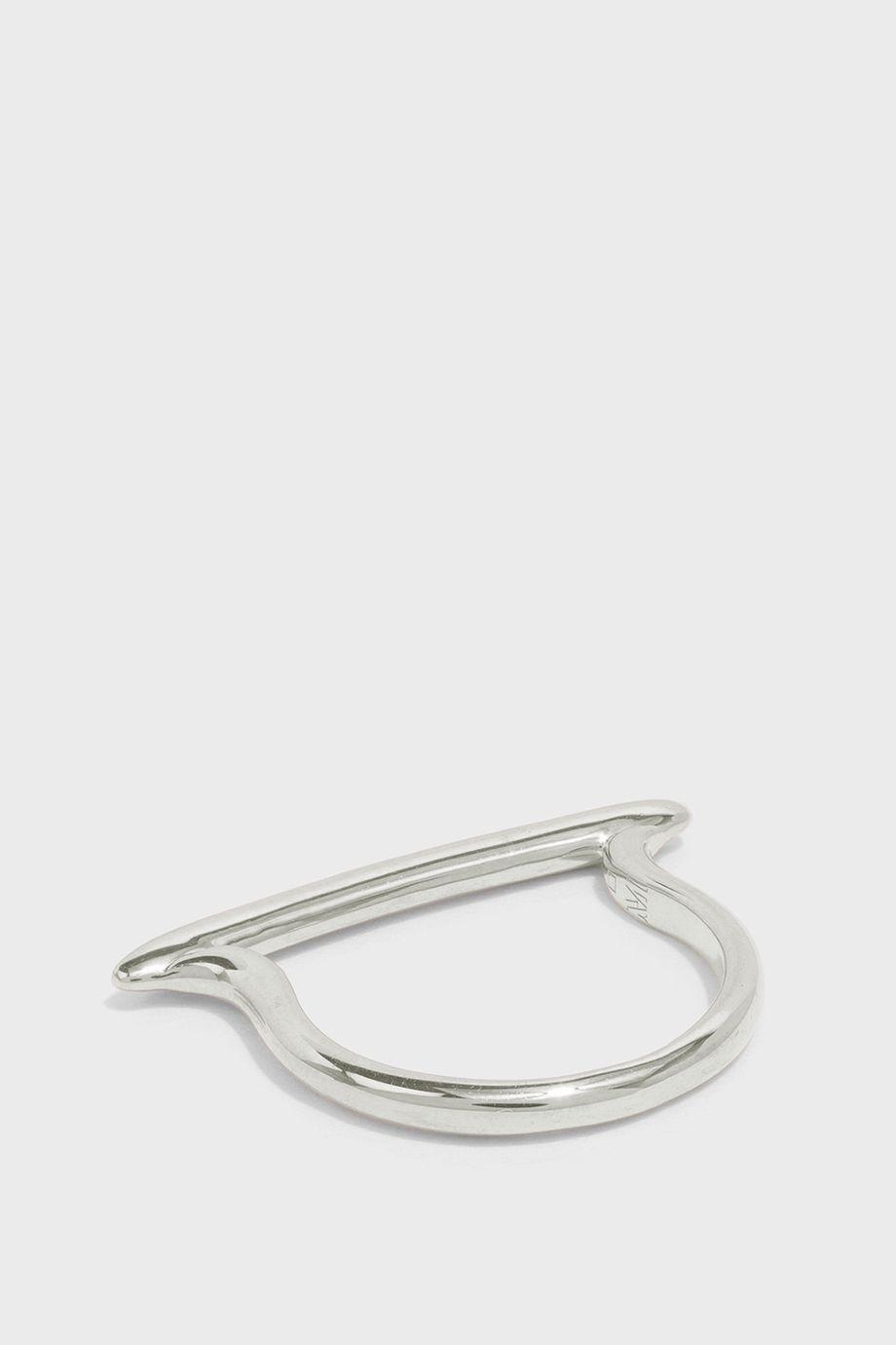 WOMAN SKINNY STACKING STERLING SILVER DIAMOND RING SILVER