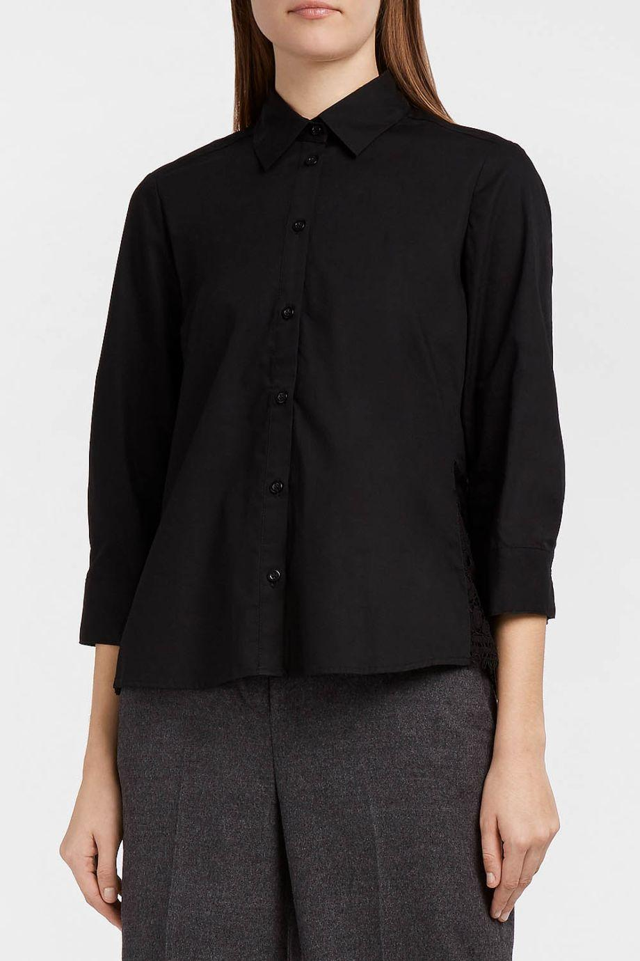 Paul & Joe Sister Majolie Lace-Trimmed Cotton-Poplin Shirt