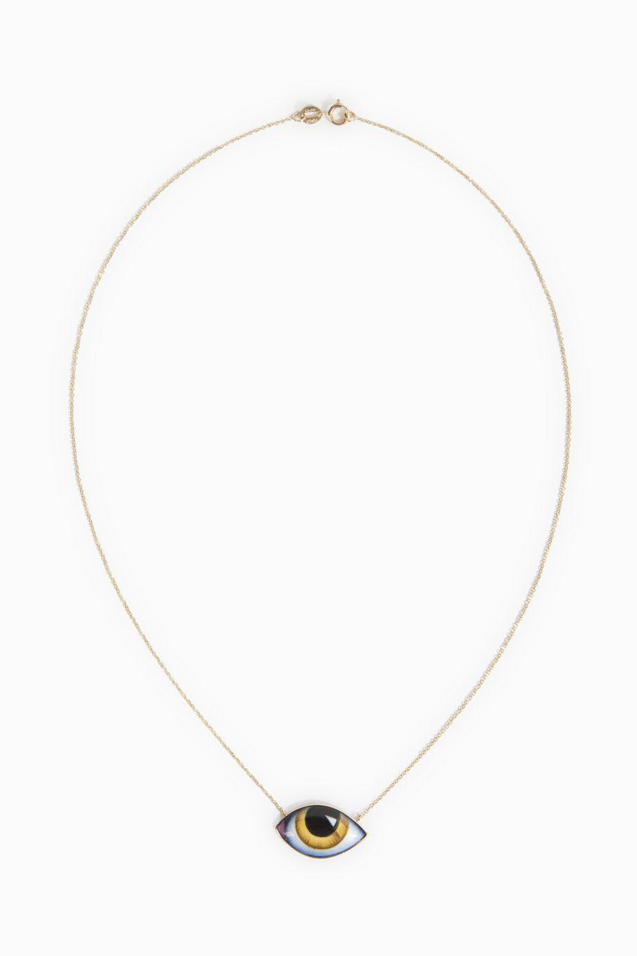 LITO Yellow Enamel Eye Necklace