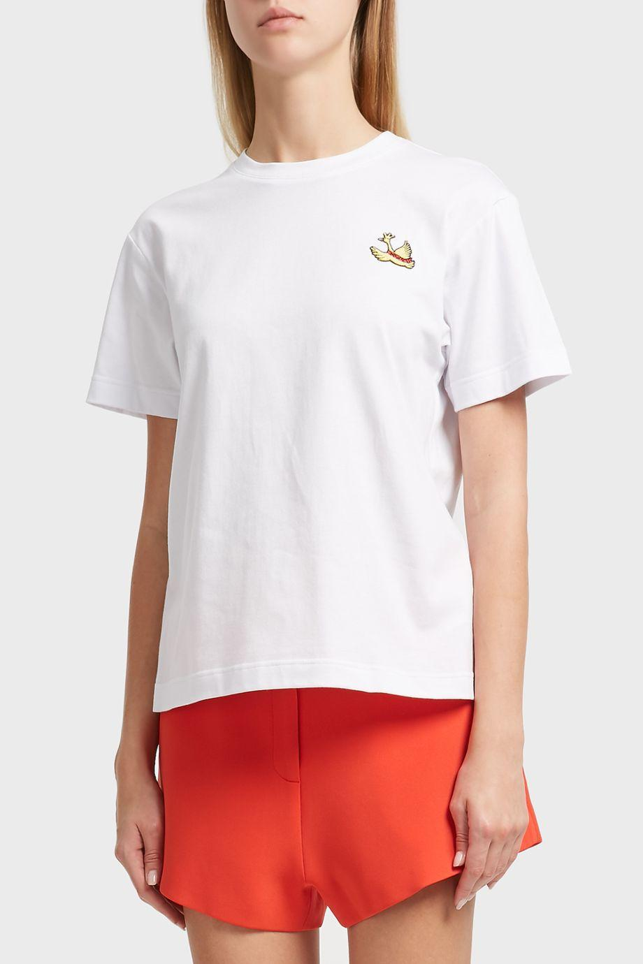 Macgraw Sain Embellished-Swan Cotton T-Shirt