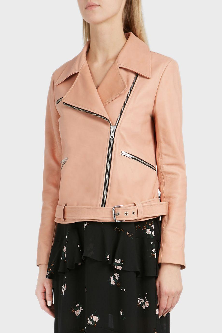 A.l.c  Duvall Zip Up Leather Jacket