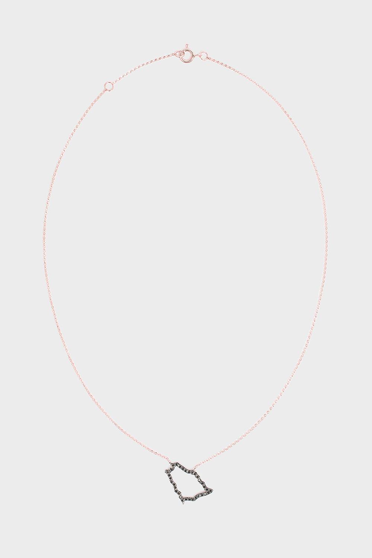 TIBA Saudi Map Outline Necklace