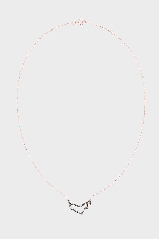 TIBA UAE Map Outline Necklace