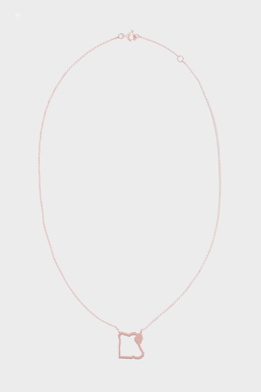 TIBA Egypt Map Outline Necklace