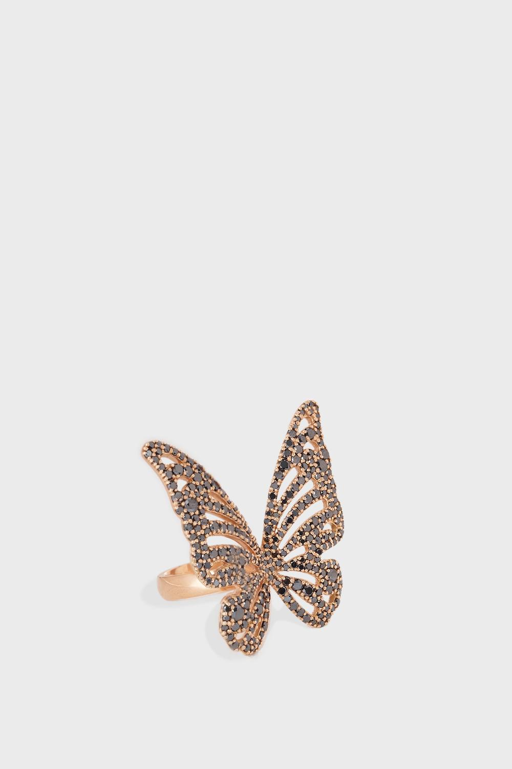 LIMELITE FINE JEWELLERY Butterfly Diamond Embellished Ring