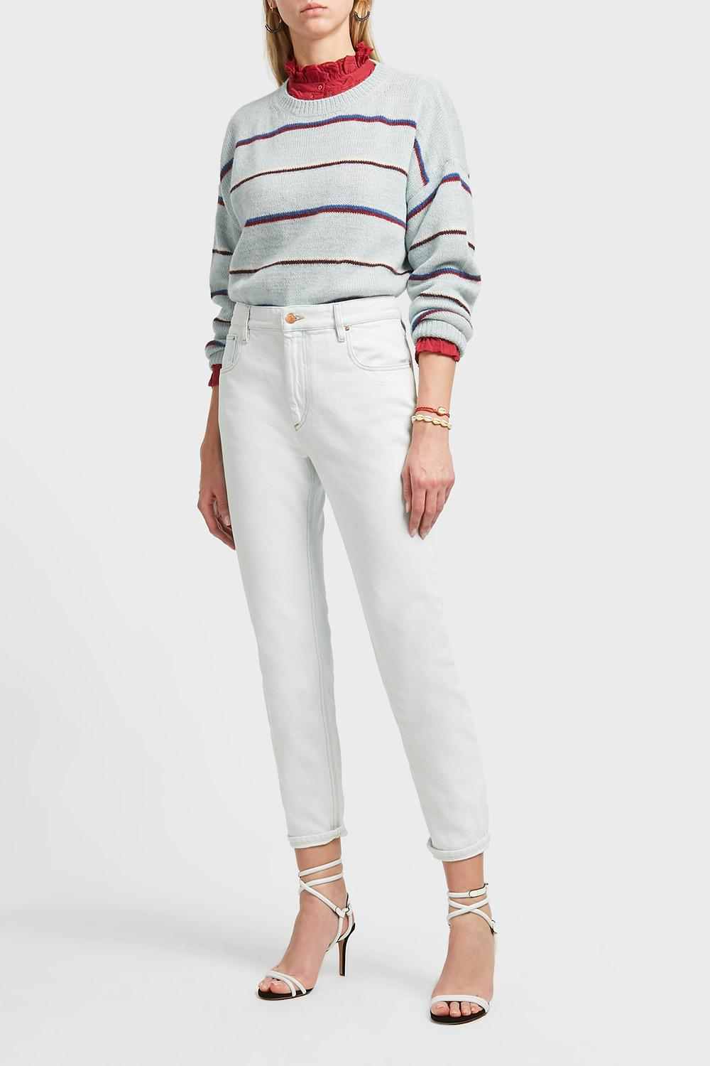 CLIFF CROPPED DENIM TROUSERS, FR38