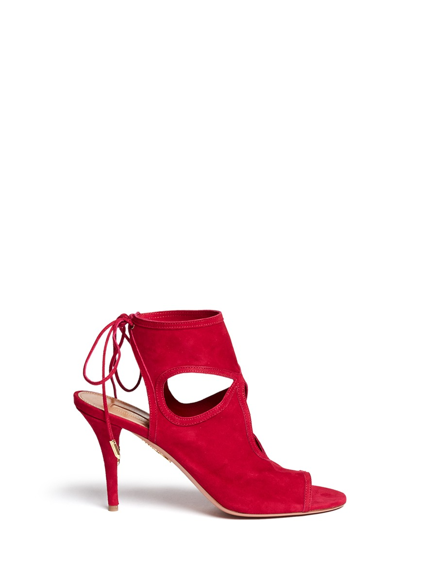 'Sexy Thing' Suede Cut-Out Sandals