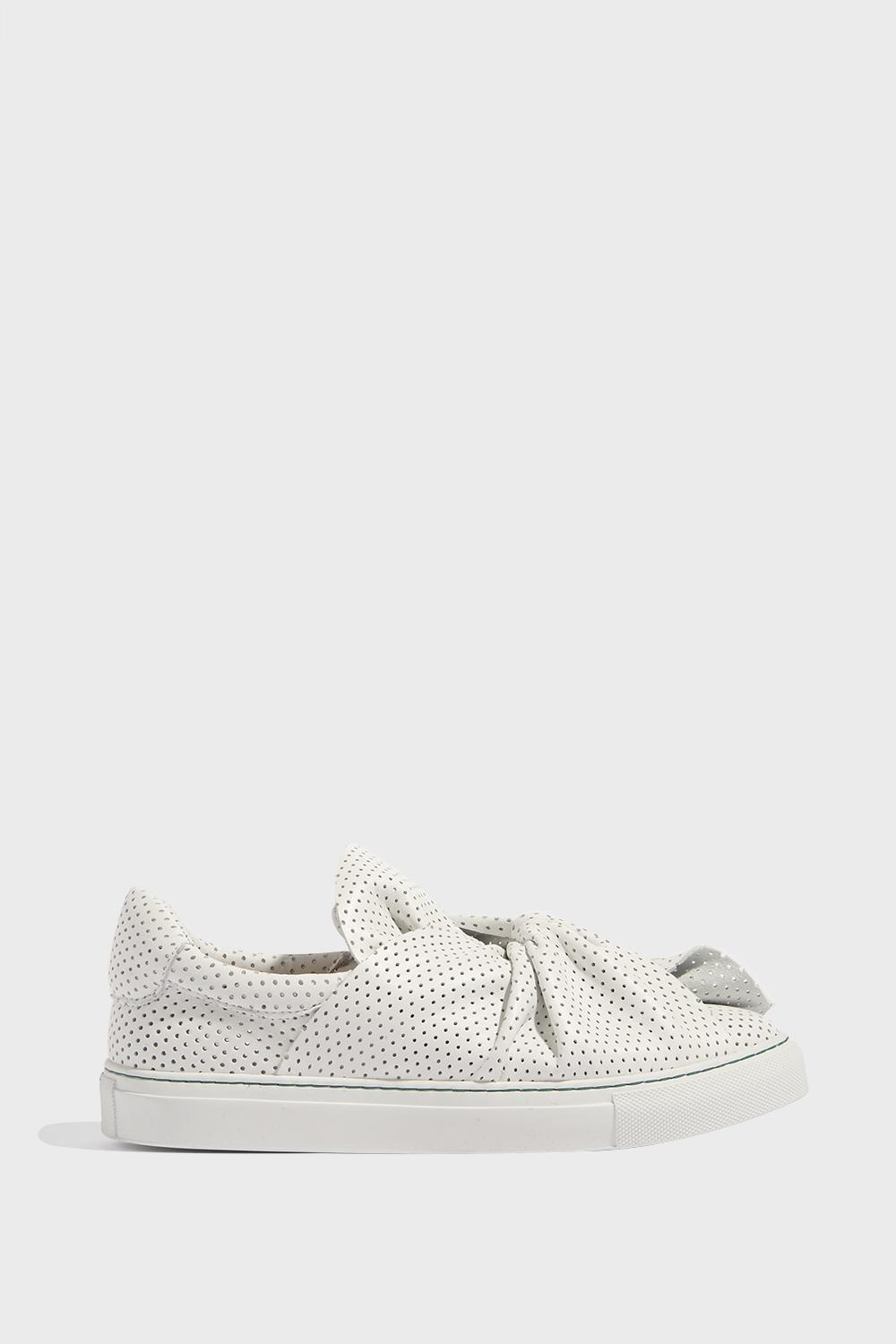 PORTS 1961 1961 BOW PERFORATED TRAINERS, SIZE FR36, WOMEN, IVORY
