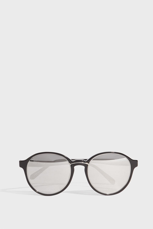LINDA FARROW LUXE Round-Frame Acetate Mirrored Sunglasses