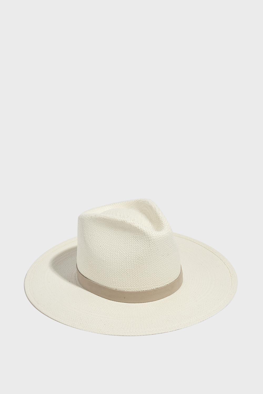 JANESSA LEONE MARILYN FEDORA HAT, SIZE M, WOMEN, WHITE