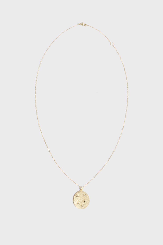BROOKE GREGSON PISCES DIAMOND NECKLACE, SIZE OS, WOMEN, Y GOLD
