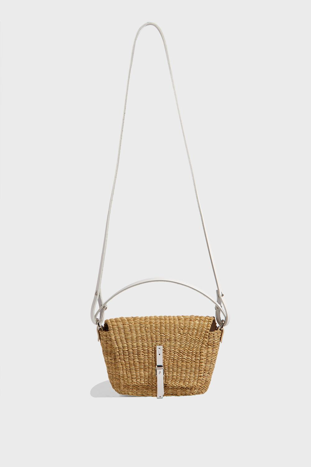 MUUN HOLLY HAND-WOVEN STRAW BAG, SIZE OS, WOMEN, BEIGE