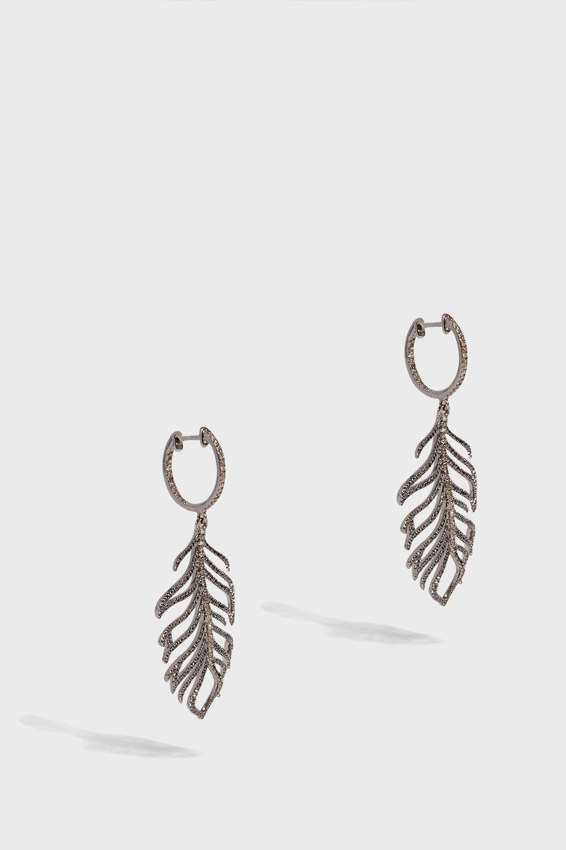 ROSA DE LA CRUZ Small Feather Earrings
