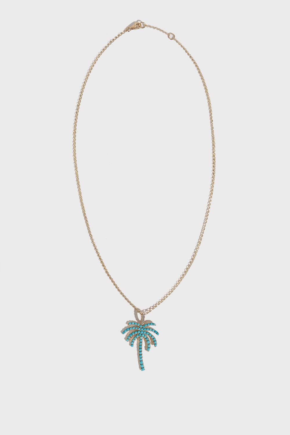 Palm Pendant Necklace