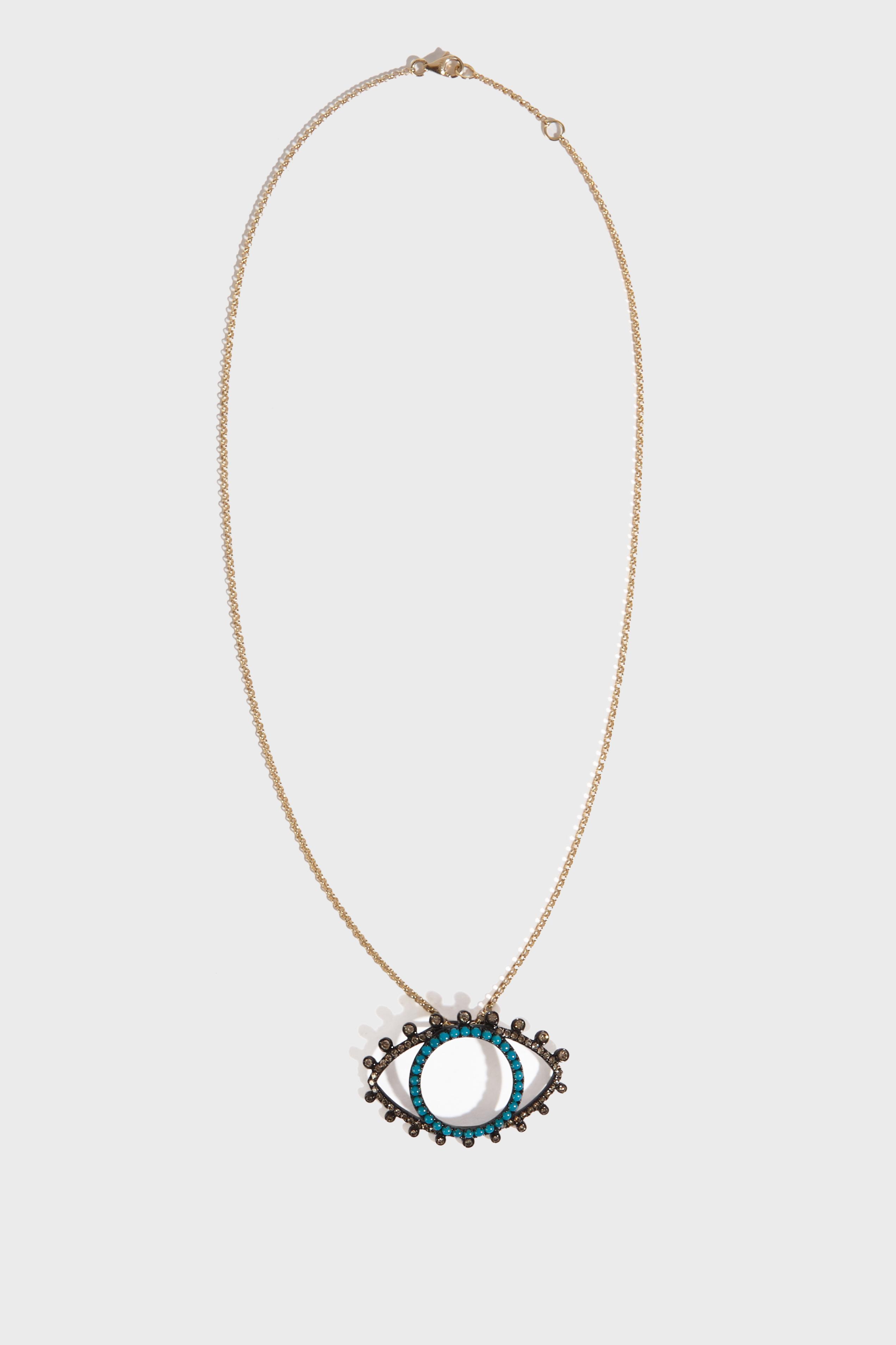 ROSA DE LA CRUZ Eye Pendant Necklace