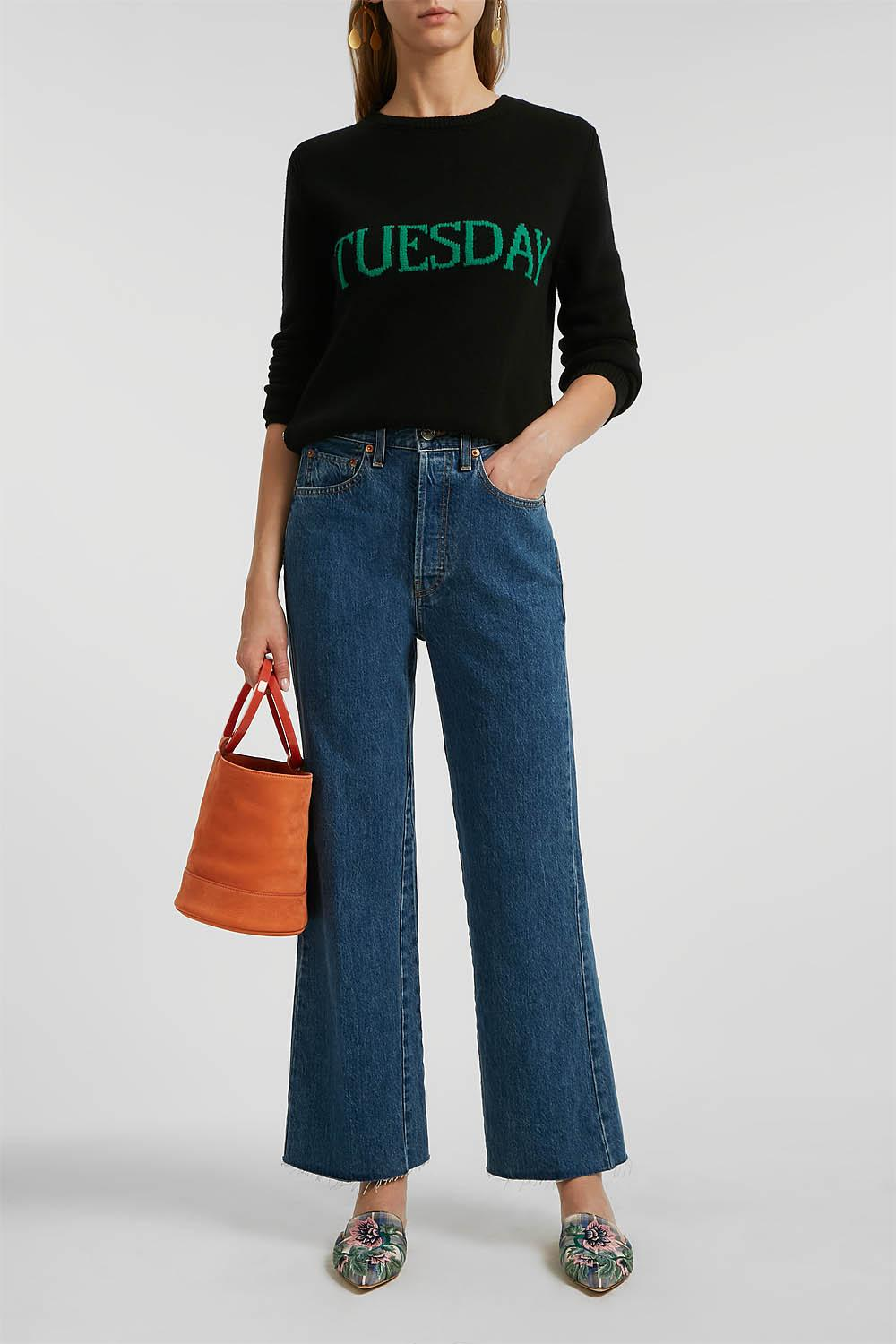 Tuesday Intarsia Wool And Cashmere-Blend Jumper