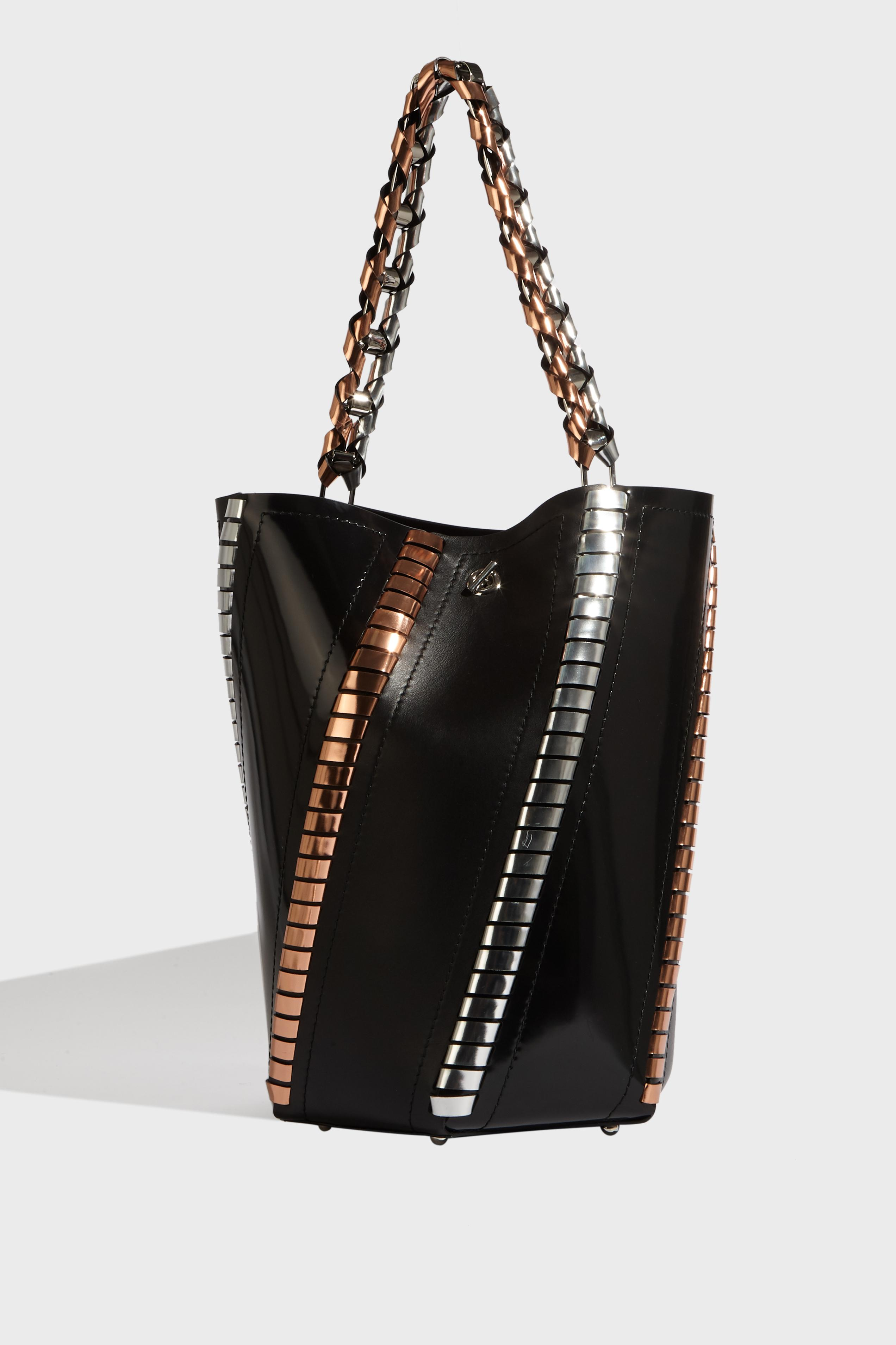 Hex Leather Bucket Bag