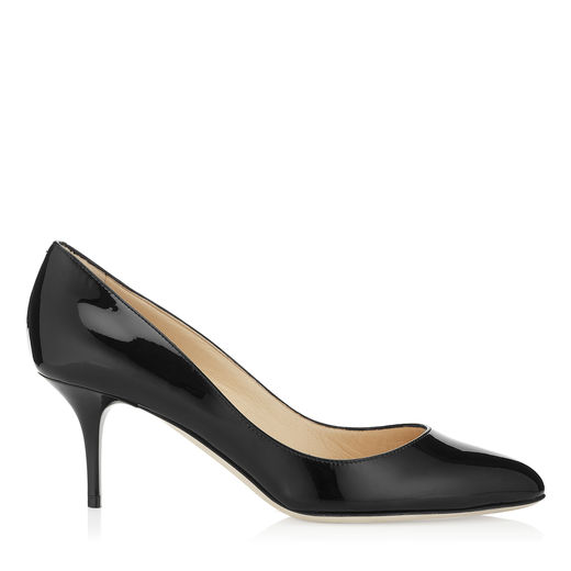 ROMY 60 Black Kid Leather Pointy Toe Pumps