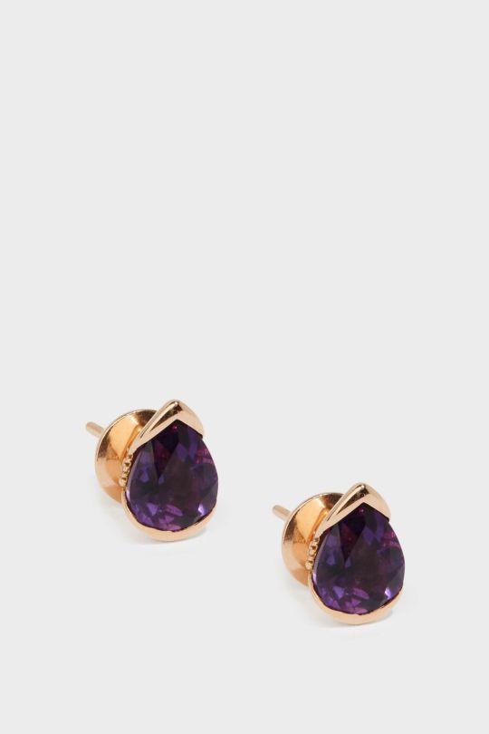 FERNANDO JORGE BLOOM 18-KARAT ROSE GOLD DIAMOND AND AMETHYST EARRINGS