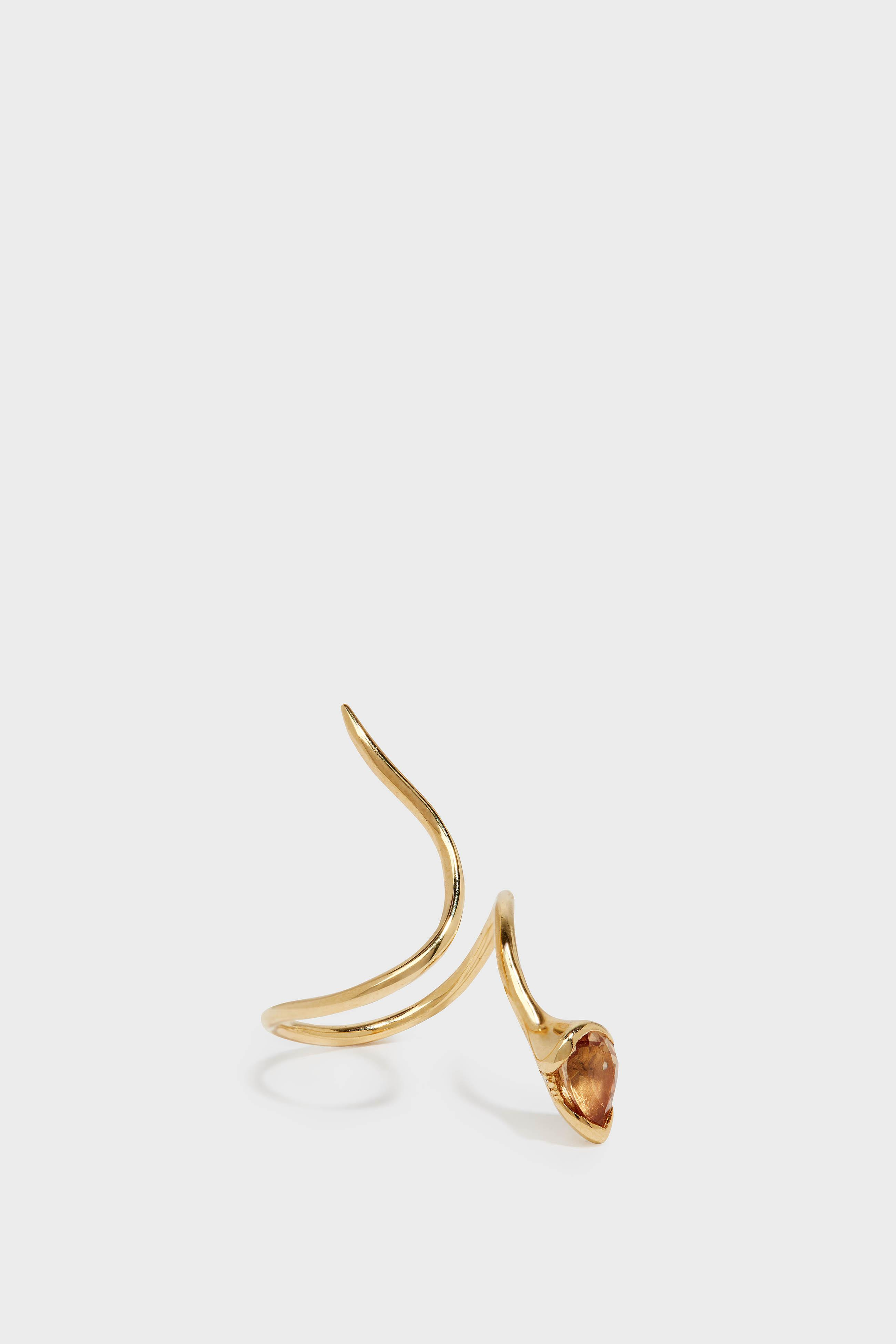 FERNANDO JORGE SPROUT 18-KARAT GOLD DIAMOND AND IMPERIAL TOPAZ RING