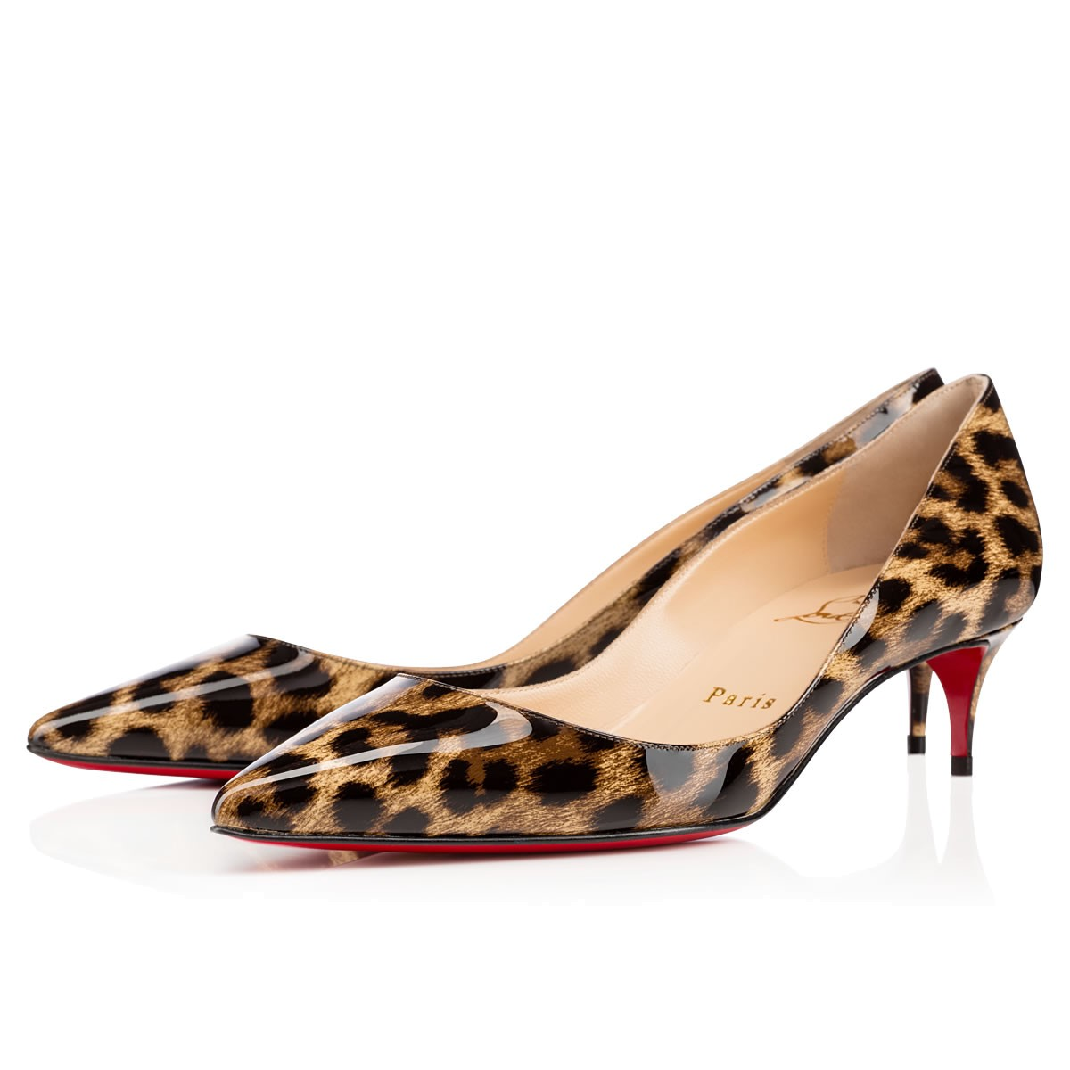 gold christian louboutin shoes - christian louboutin pointed-toe pumps Gold and brown patent ...