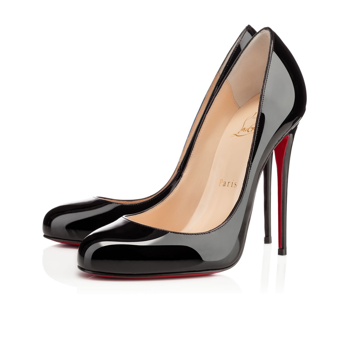 63ebbb74e5e ... usa christian louboutin fifi pumps black patent leather covered heels  960aa d4e1d