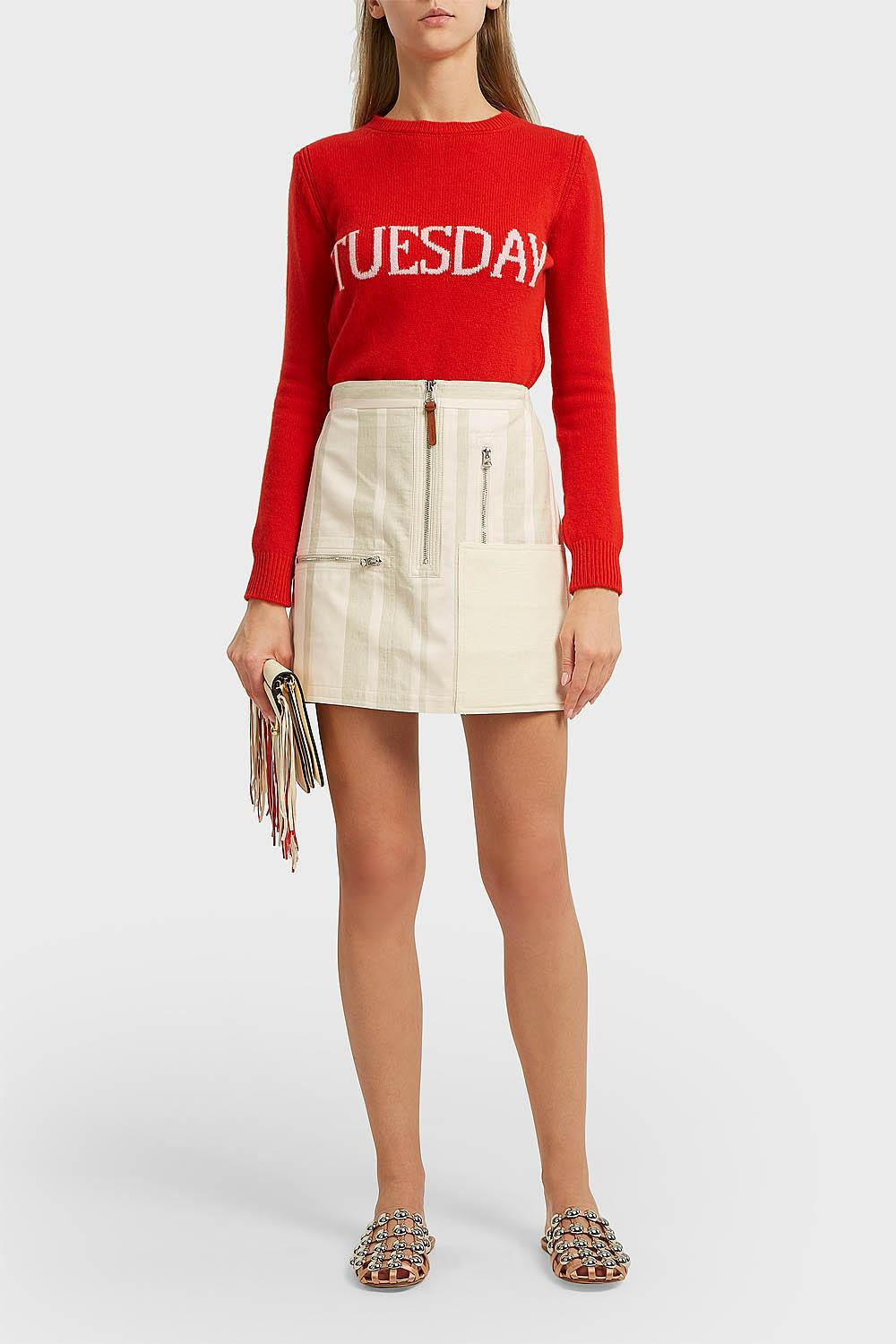TUESDAY INTARSIA WOOL AND CASHMERE-BLEND JUMPER, IT44