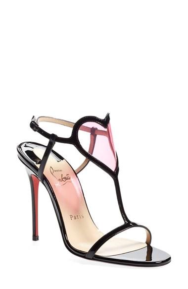 00292bd1a56 Artesur » christian louboutin patent leather Cora sandals Black pink ...