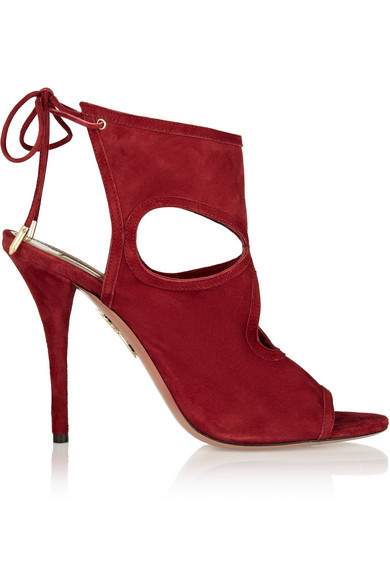 'Sexy Thing' Sandals In Red Suede