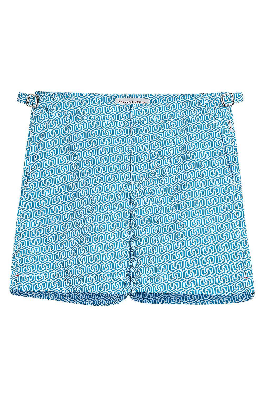 BULLDOG SWIM SHORTS, SIZE 34, MEN, BLUE