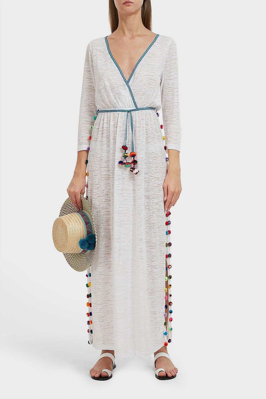PITUSA SANTORINI DRESS, SIZE 2, WOMEN, WHITE