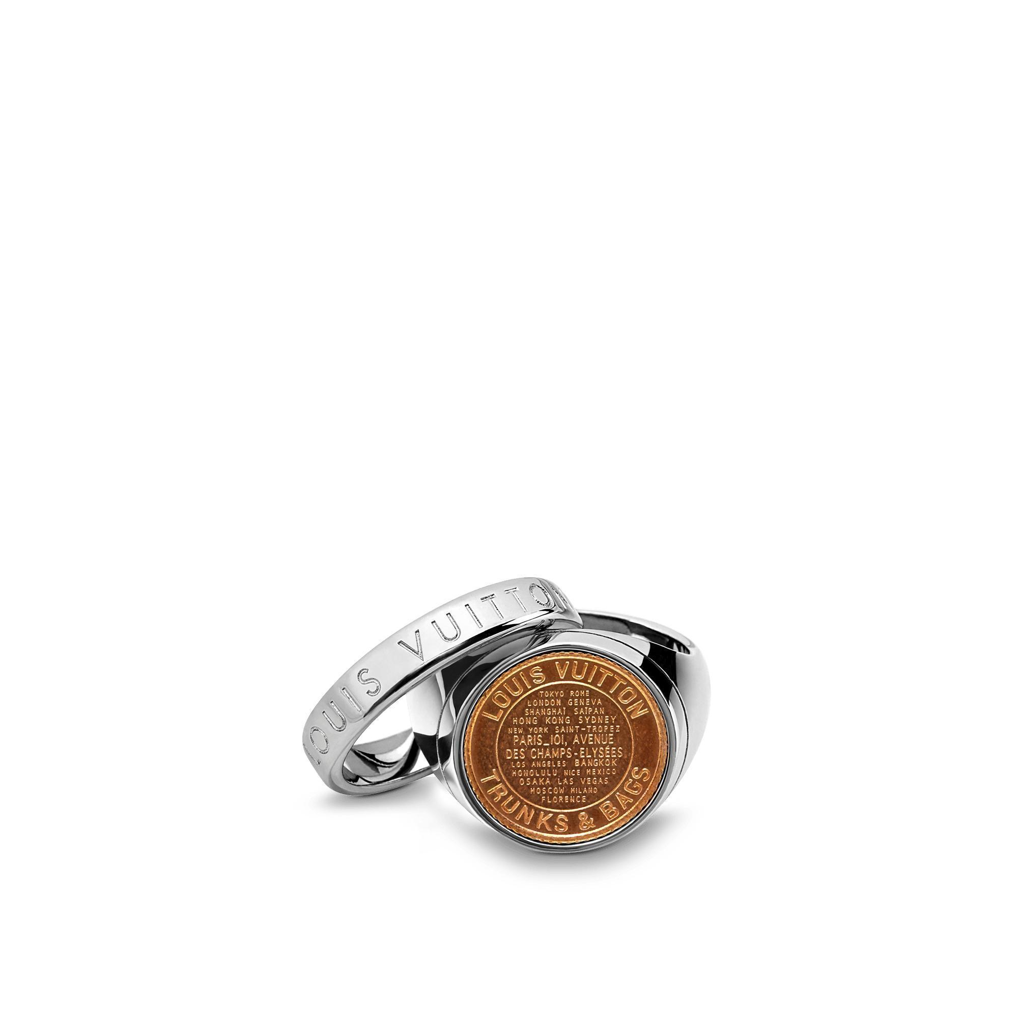 LOUIS VUITTON LV AMERICANA COIN RING