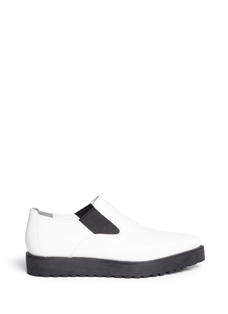 'Catherine' Leather Slip-Ons