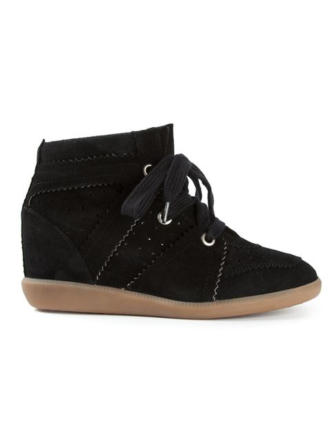 WOMEN'S SHOES HIGH TOP SUEDE TRAINERS SNEAKERS BOBBY