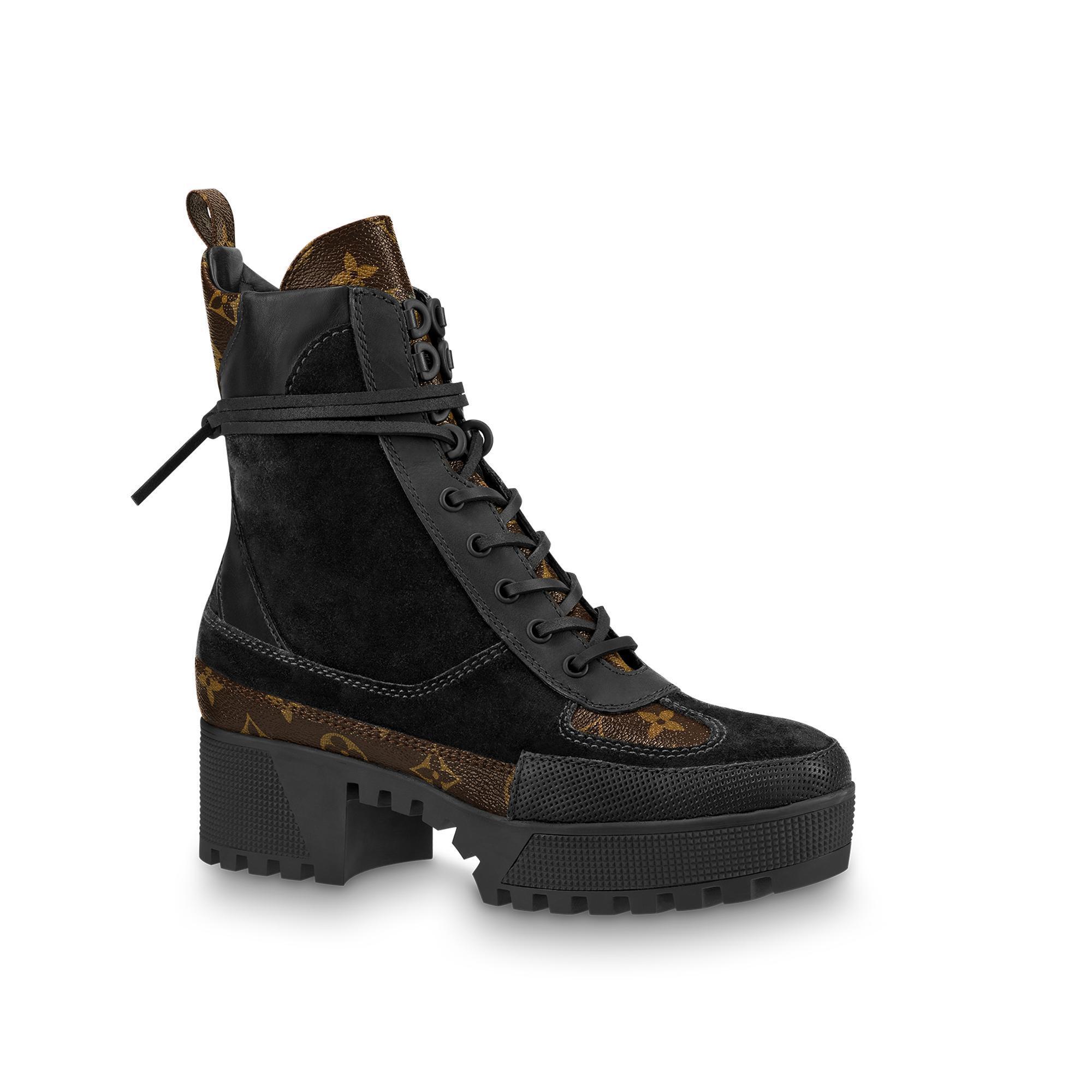 1621d850c03 Louis Vuitton Laureate Platform Desert Boot In Noir   ModeSens
