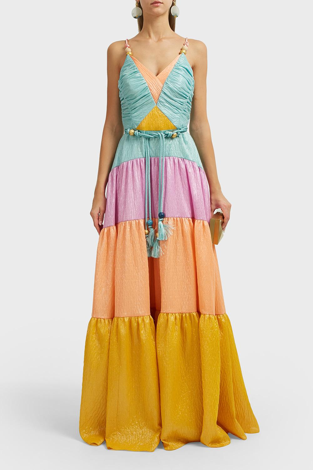 Peter Pilotto Panelled Silk-Organza Gown