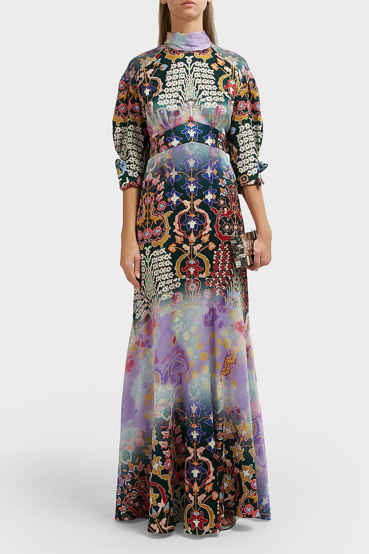 Peter Pilotto High Neck Silk Gown
