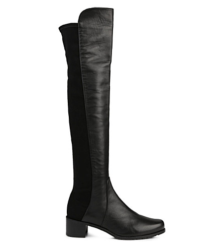 Reserve stretch-back leather boots