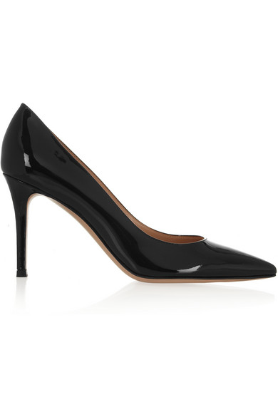 Bari 85 Patent-Leather Court Shoes