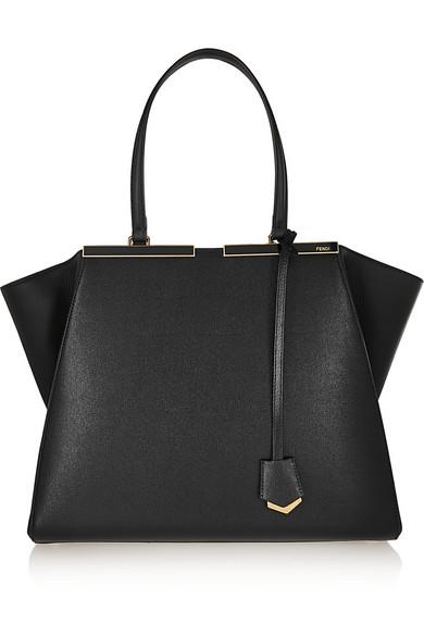 Trois-Jour Mini Shopping Tote Bag, Black/White