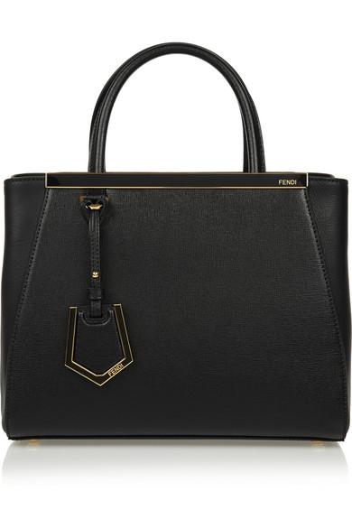 Black Leather '2Jours' Petite Convertible Top Handle Bag